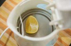 Как очистить чайник от накипи лимонной кислотой: электрический и металлический