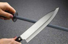 Как точить ножи бруском и мусатом в домашних условиях?