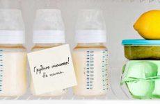 Как хранить грудное молоко после сцеживания в холодильнике