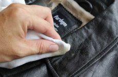 Правильная чистка кожаной куртки от засаленности в домашних условиях