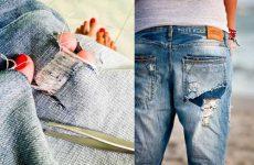 Как правильно самой сделать рваные джинсы своими руками?